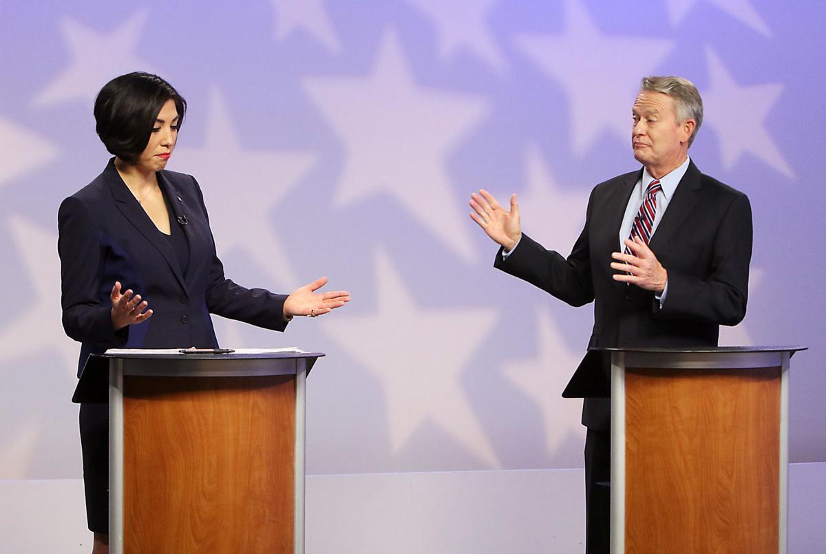 Little, Jordan spar in testy debate