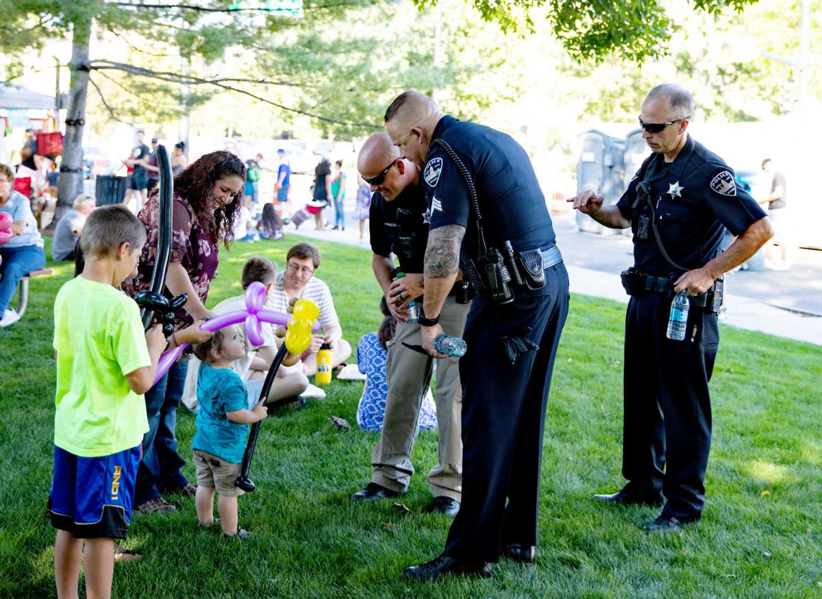 Officers at Latino Fest