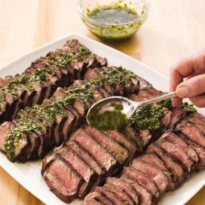 Food Column ATK Argentine Steaks with Chimichurri Sauce