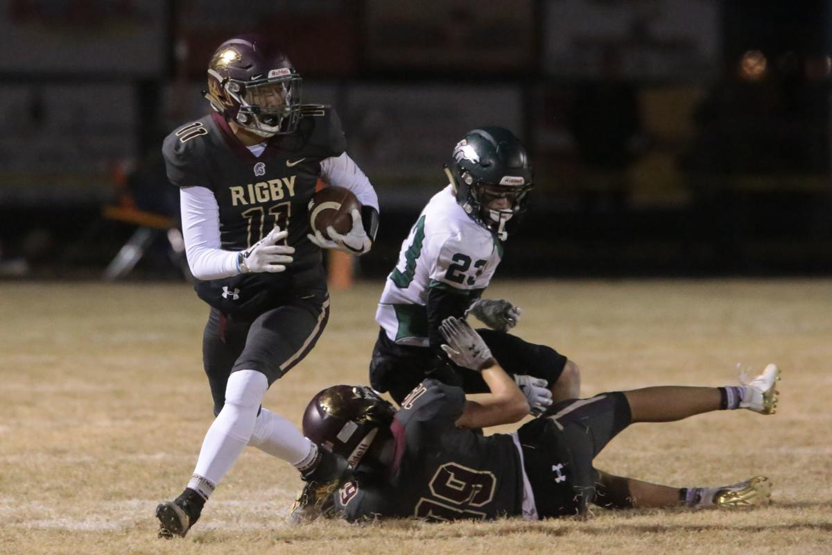 Rigby football team defeats the Mustangs, moves on to semifinals