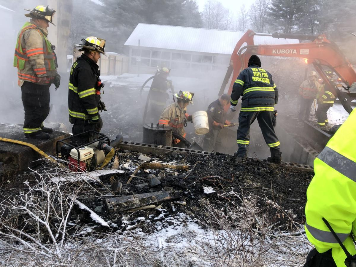 Investigators at fire