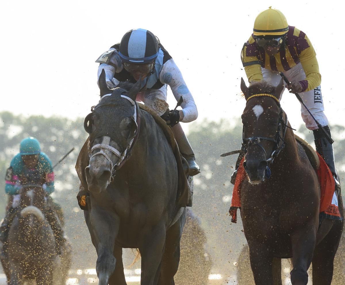Belmont finish
