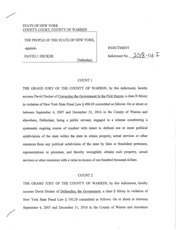 Decker indictment