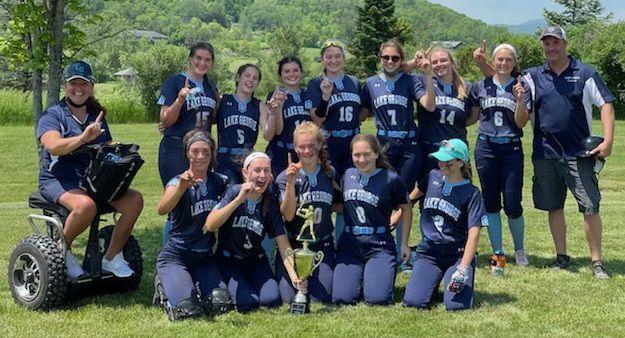 Lake George softball win