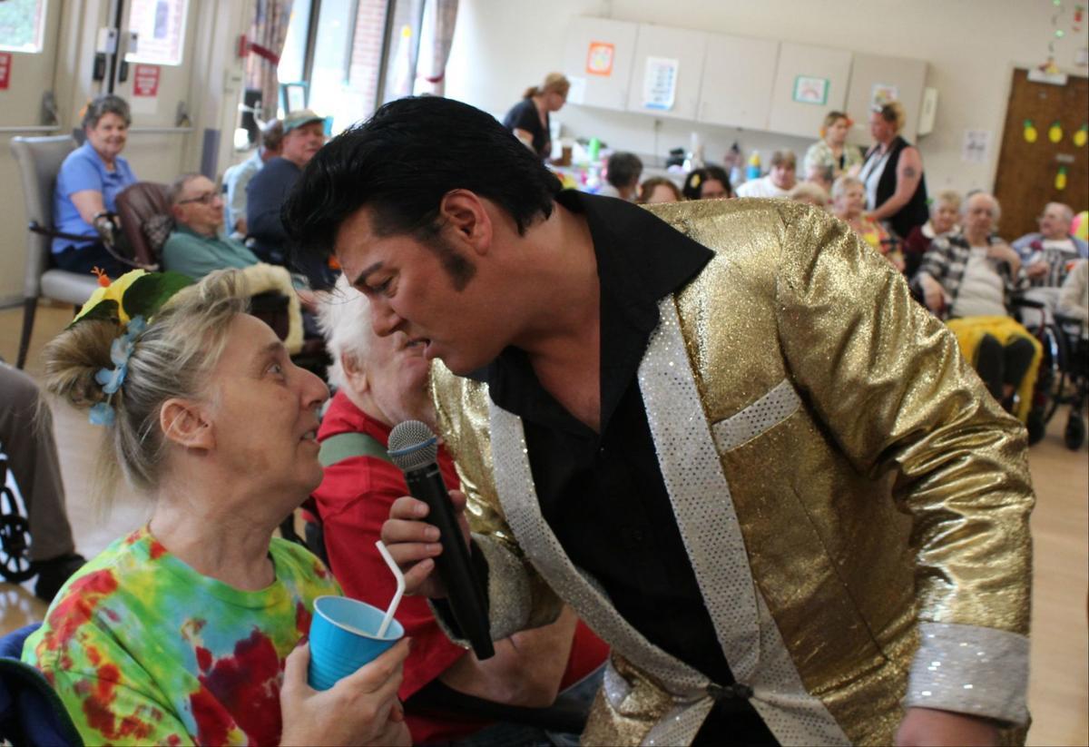 Nursing home gets visit from Elvis