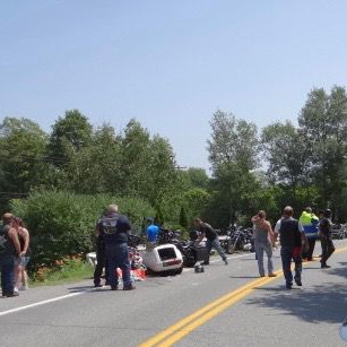 UPDATED: Whitehall man airlifted after Route 8 motorcycle