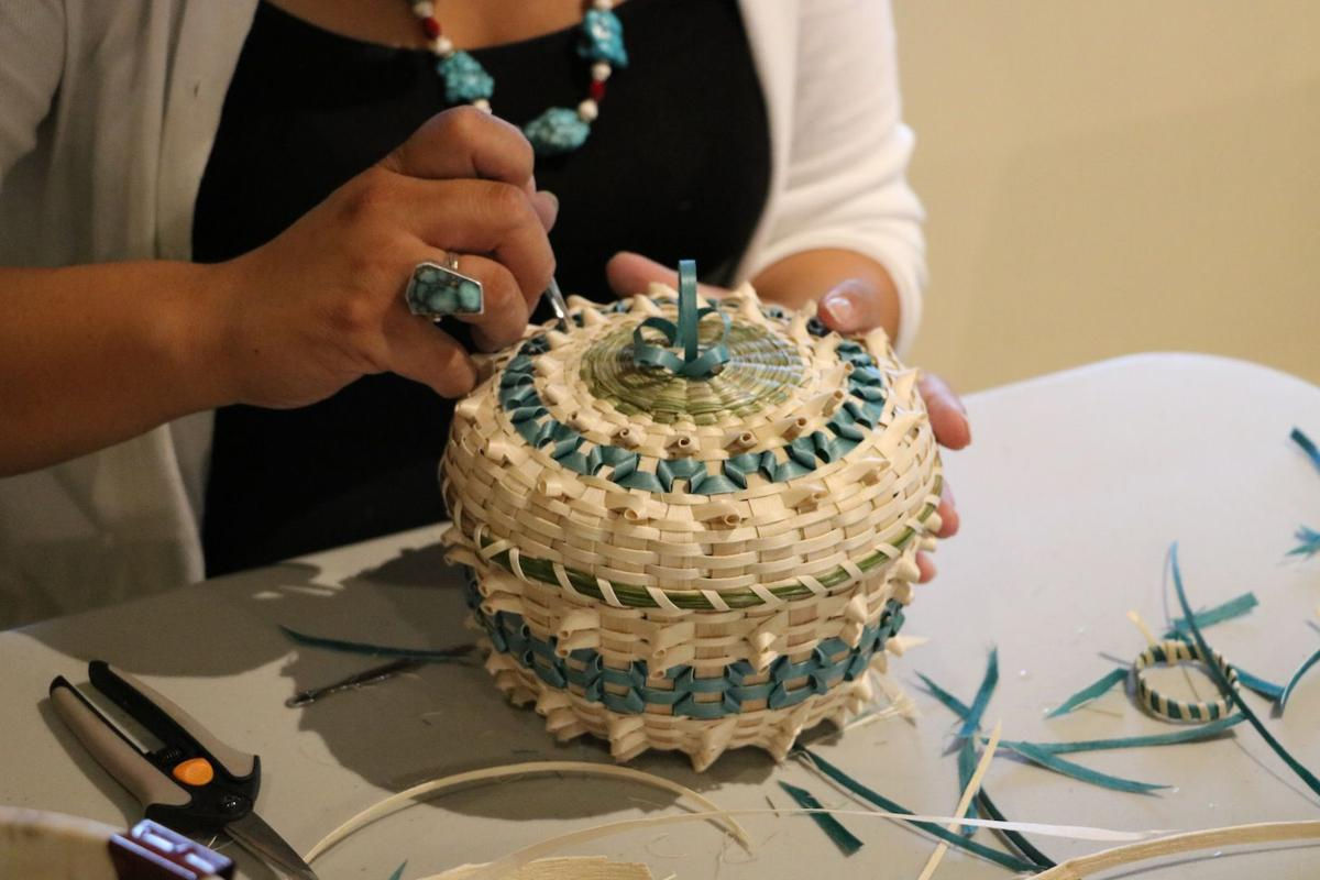 Native American basket weaving