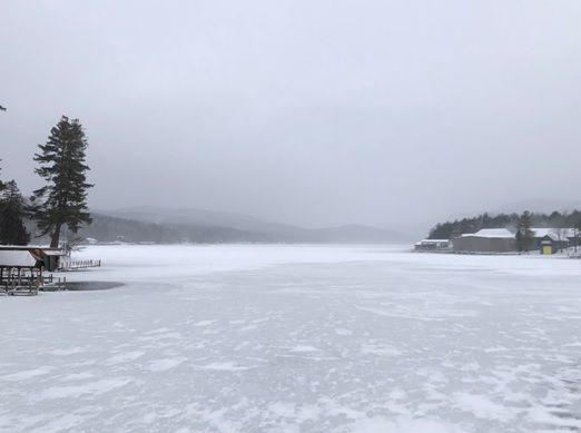 Frozen Lake George