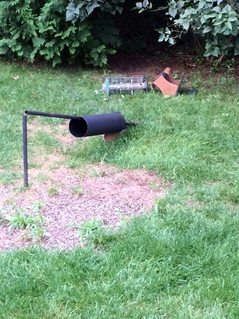 Bird feeder broken