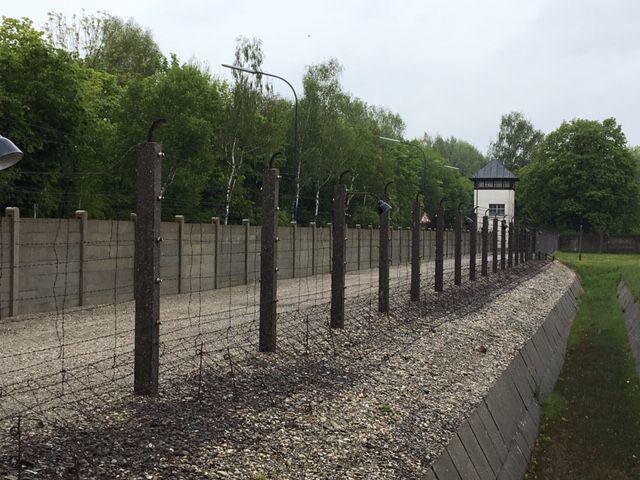Dachau fence line