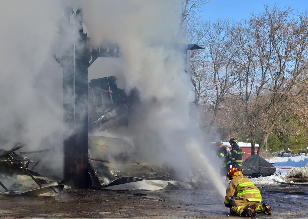 Logging business fire