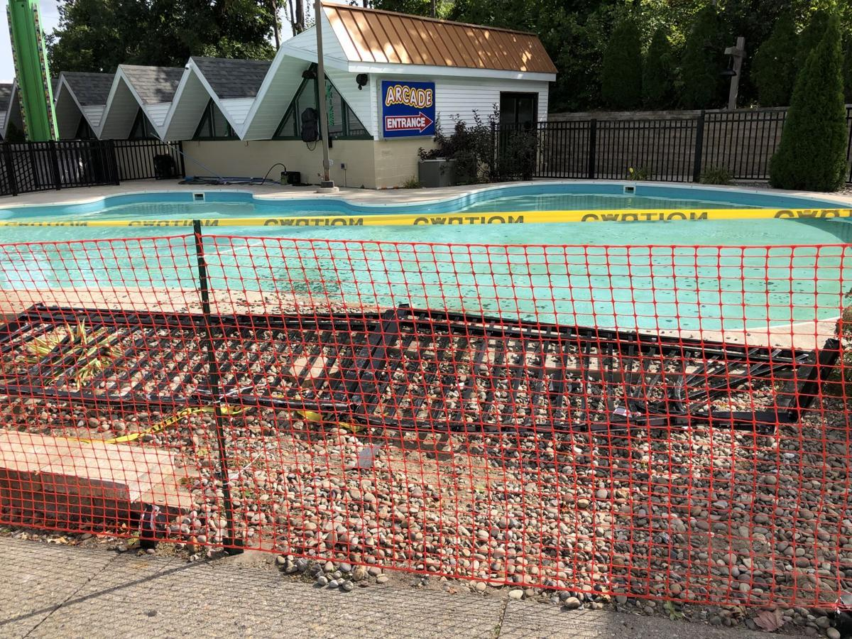 Vehicle damages fence at Funa'rama Fun Park in Lakge George