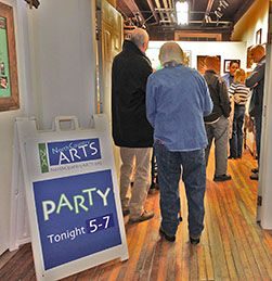 An art party held at NCA at the Shirt Factory Gallery in 2016