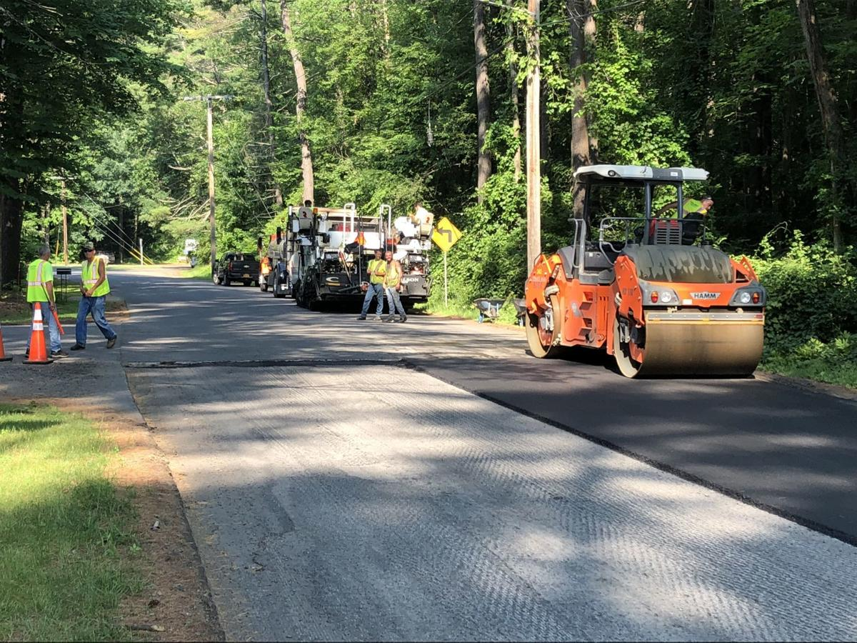 Fire road paving