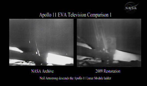 NASA refurbishes video copies of moon landing