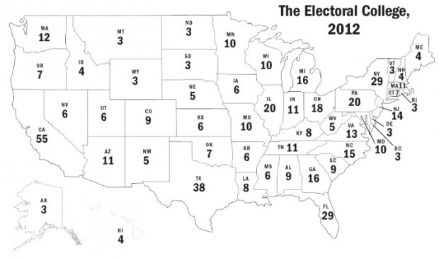 photograph about Printable Electoral College Map named EDITORIAL: Electoral Faculty map no more time results in experience
