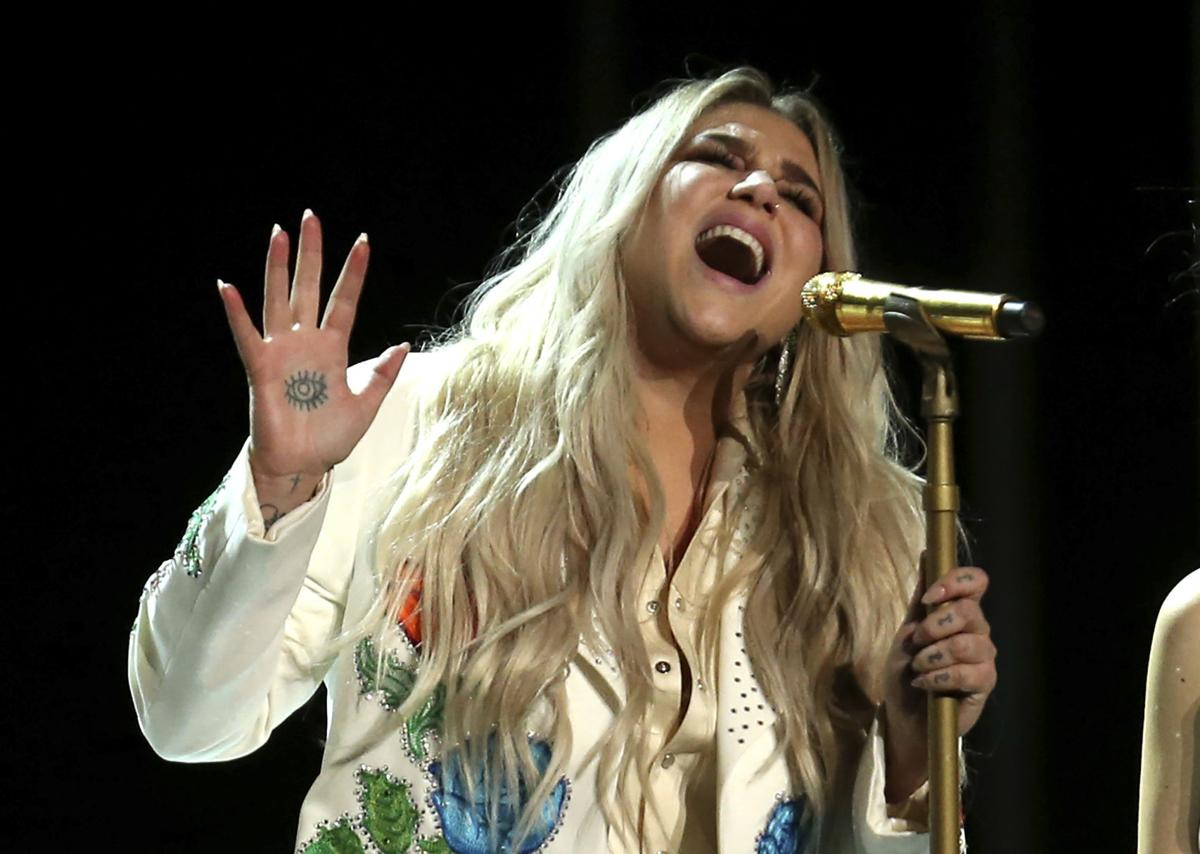 The inside story behind Kesha's emotional Grammy moment