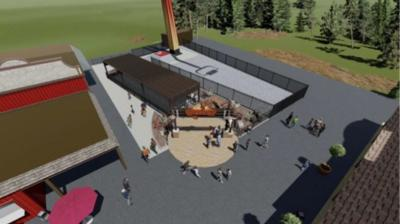 New entrance for ride
