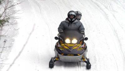 Snowmobiling in Lake George