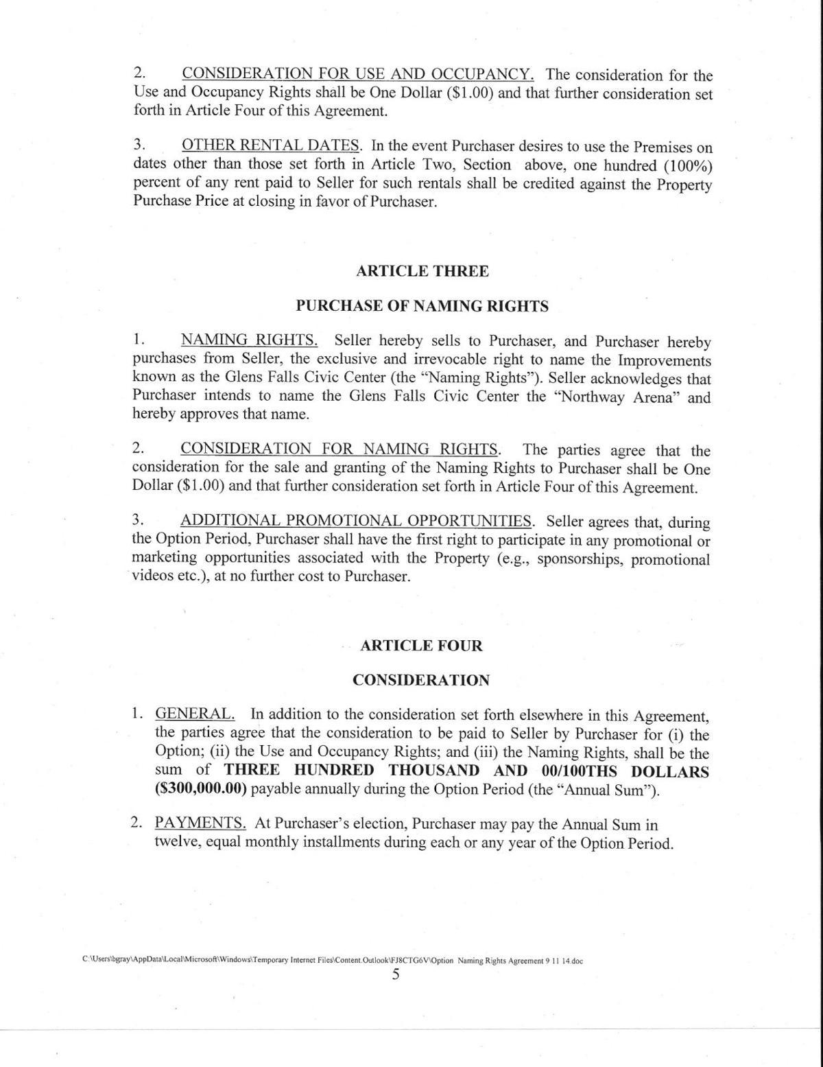 Civic Center agreement | | poststar com