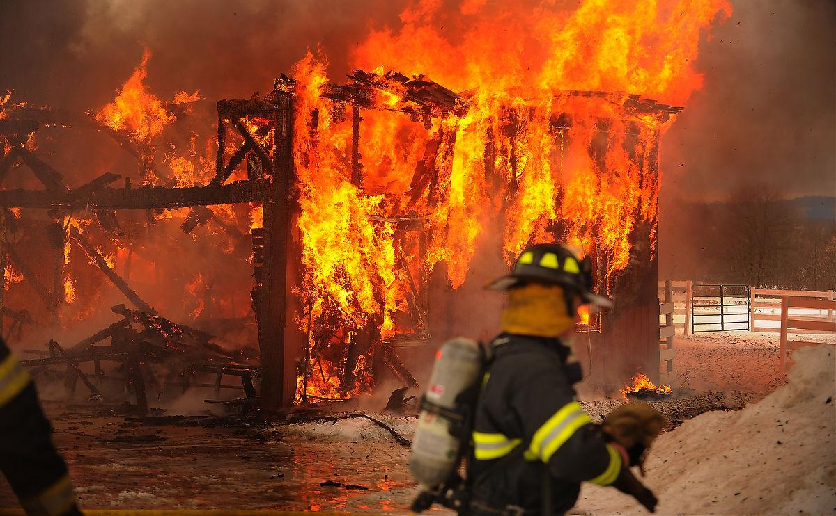 With hydrants frozen, 4 barns lost to fire | Local ...
