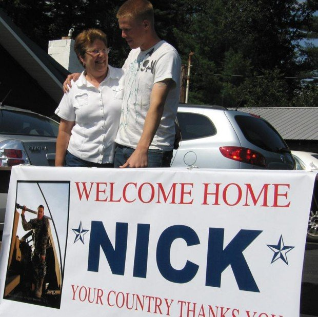 Soldier's return home celebrated