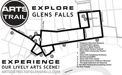 Arts Trail map
