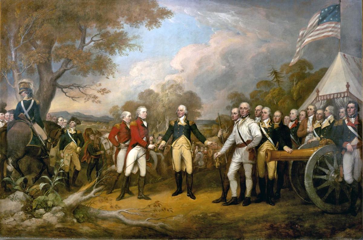 The 'Surrender of General Burgoyne' painting