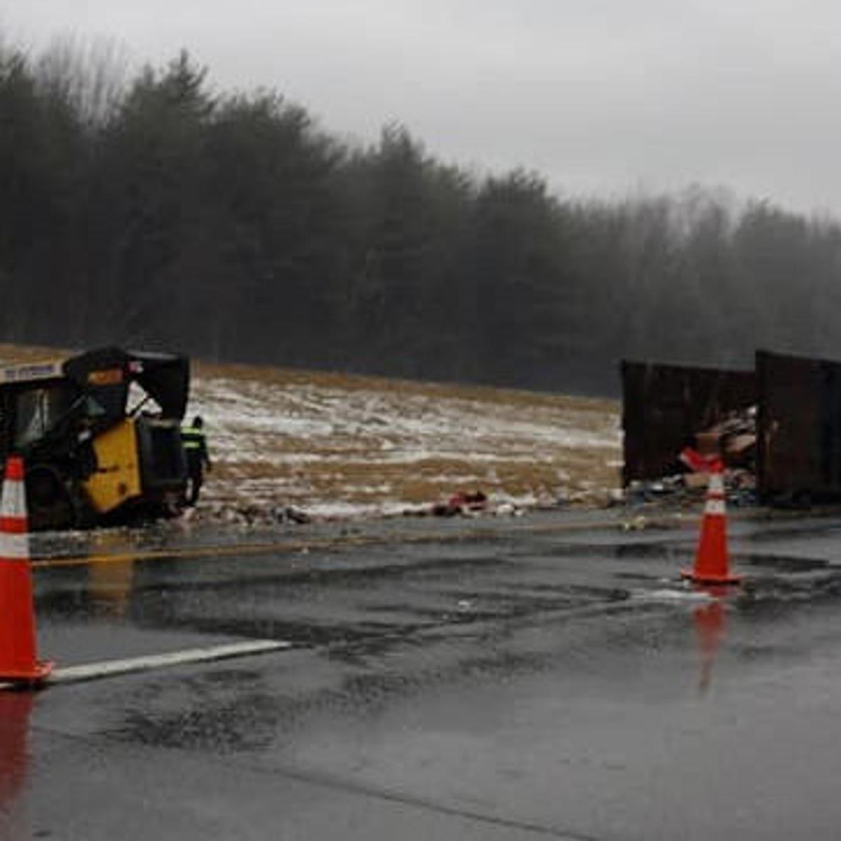 Jackknifed tractor-trailer slows Northway traffic | Local