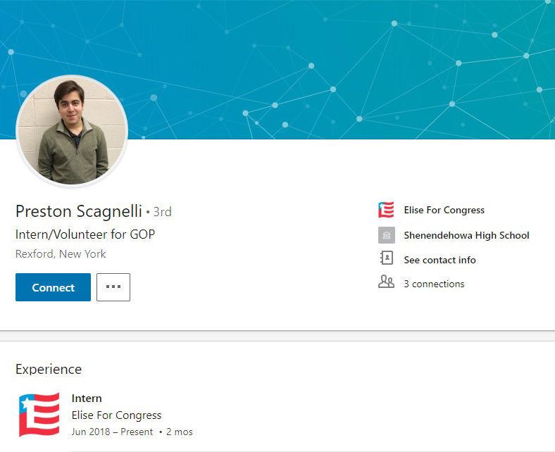 Preston Scagnelli's LinkedIn page