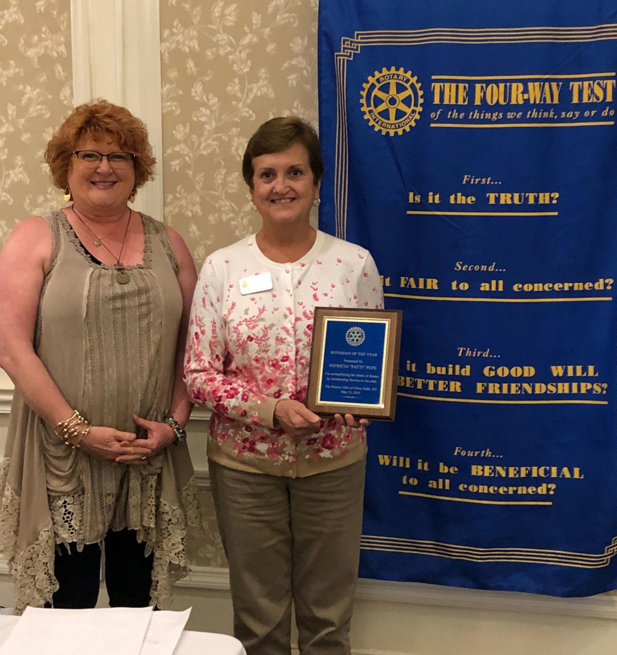 Pepe named Rotarian of the Year
