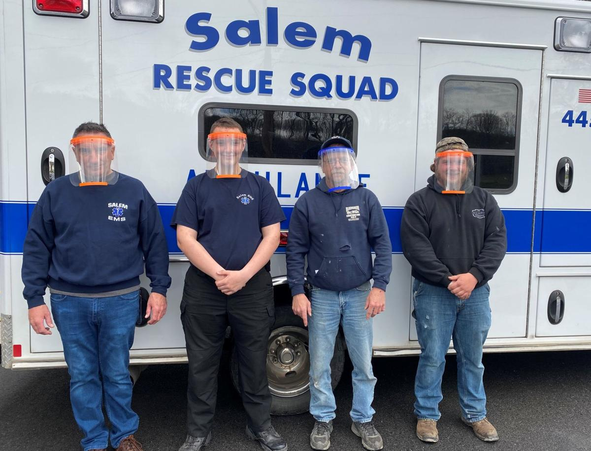 Salem tech students give face shields to squad