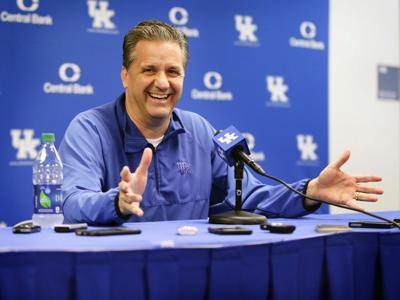 Kentucky basketball coach John Calipari talks to the media on May 11, 2016, in Lexington, Ky.