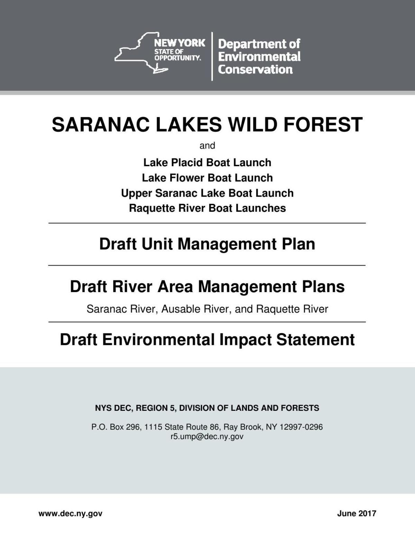 Saranac Lakes Wild Forest