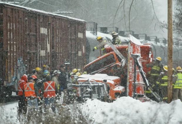 Snowplow vs. truck