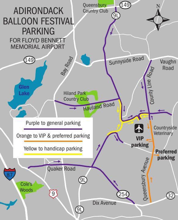 Adirondack Balloon Festival parking