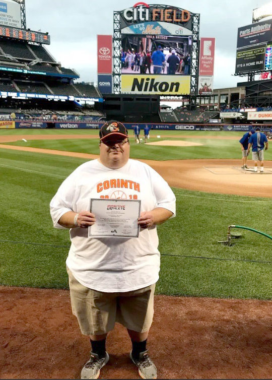 Corinth coach honored at Mets game