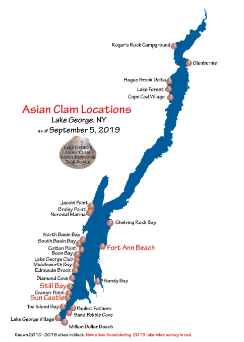 Asian Clam locations