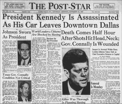 JFK newspaper