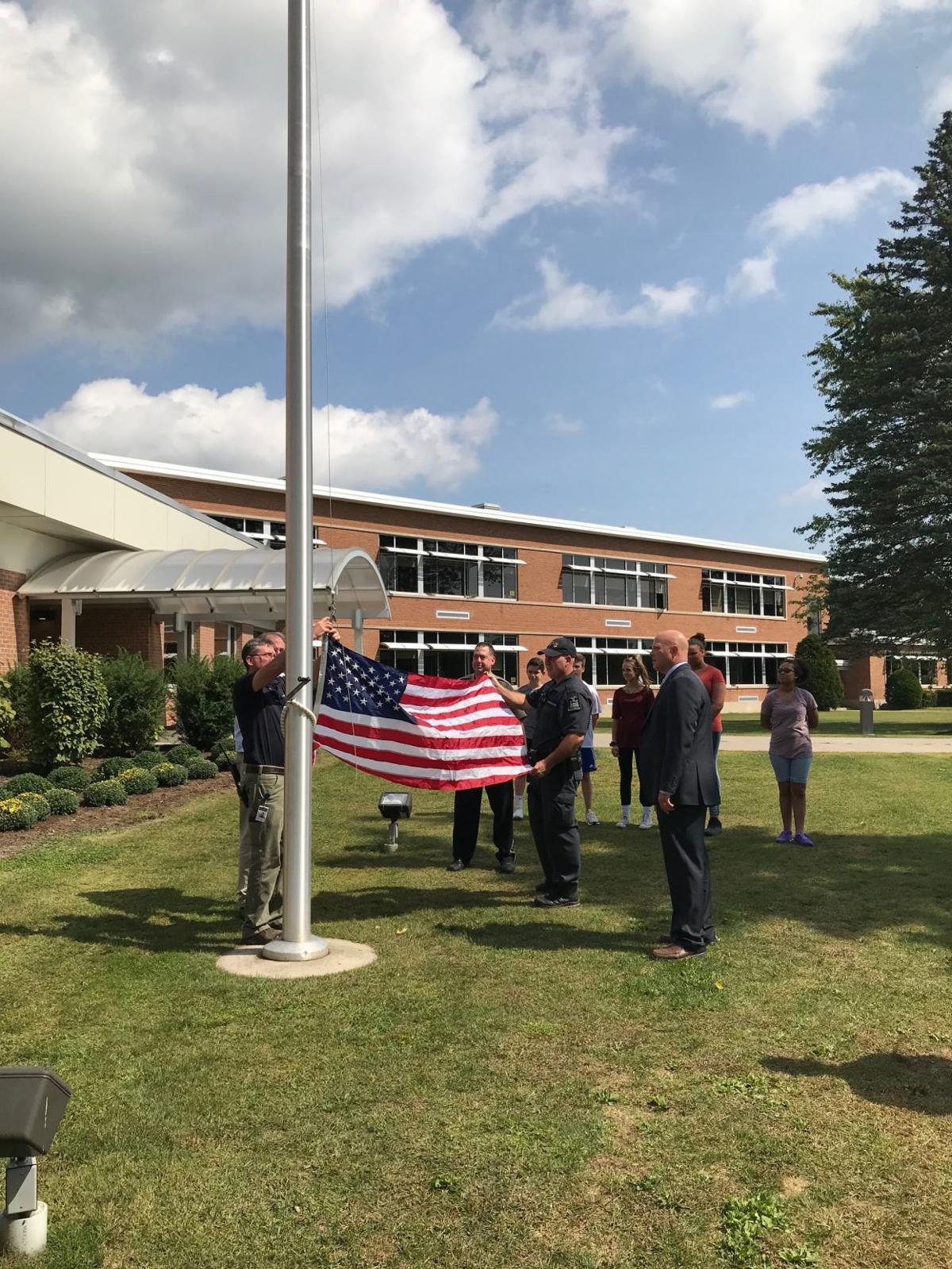 Flag raised