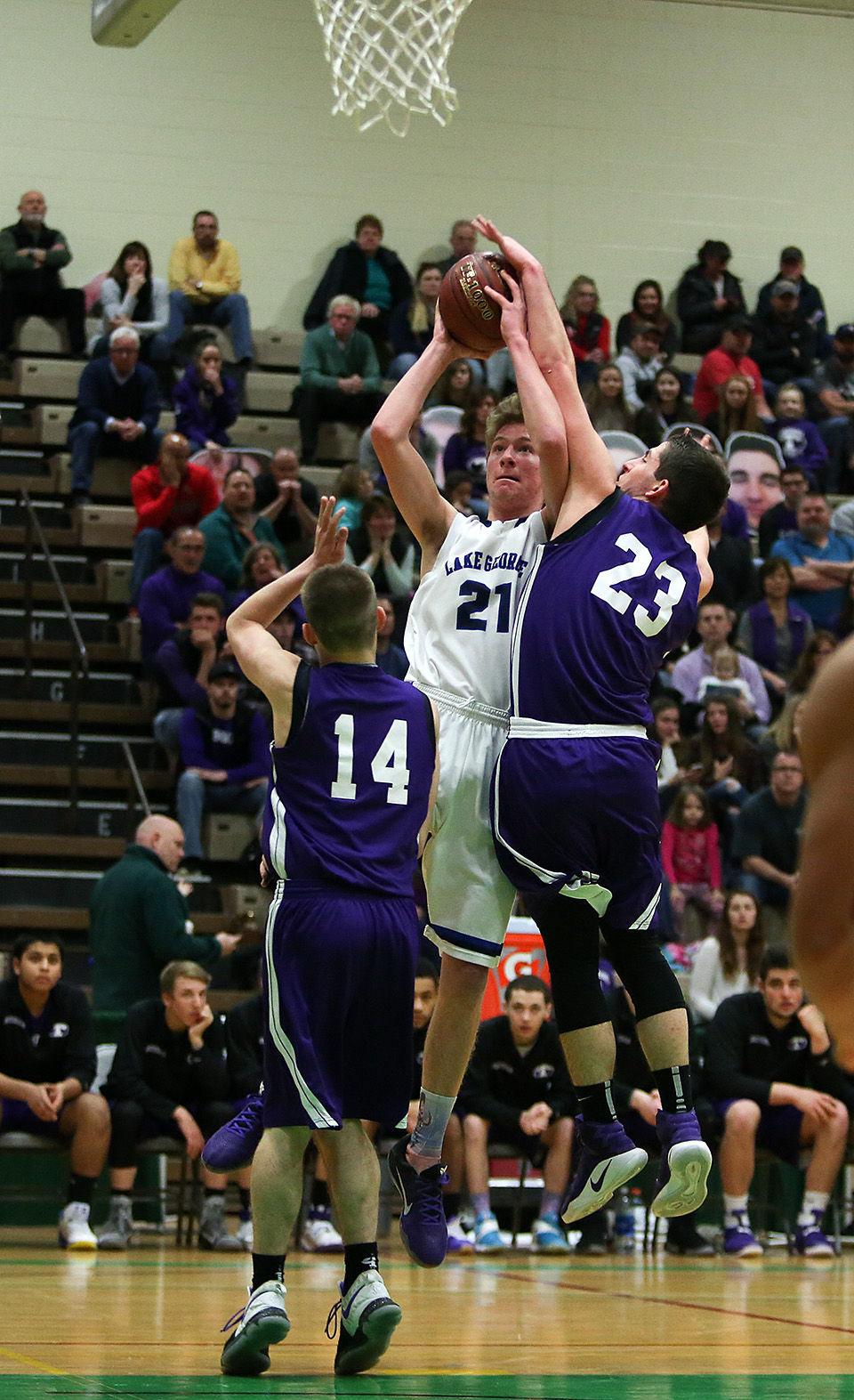 Boys basketball -- Lake George vs. Ticonderoga