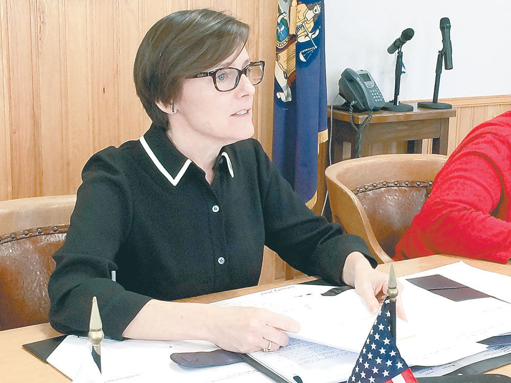 Barbara Rice, D Saranac Lake, Presides Over Her First Meeting As Chair Of  The Franklin County Board Of Legislators In January 2017.