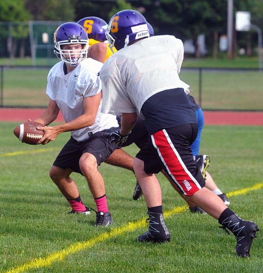 Salem football practice