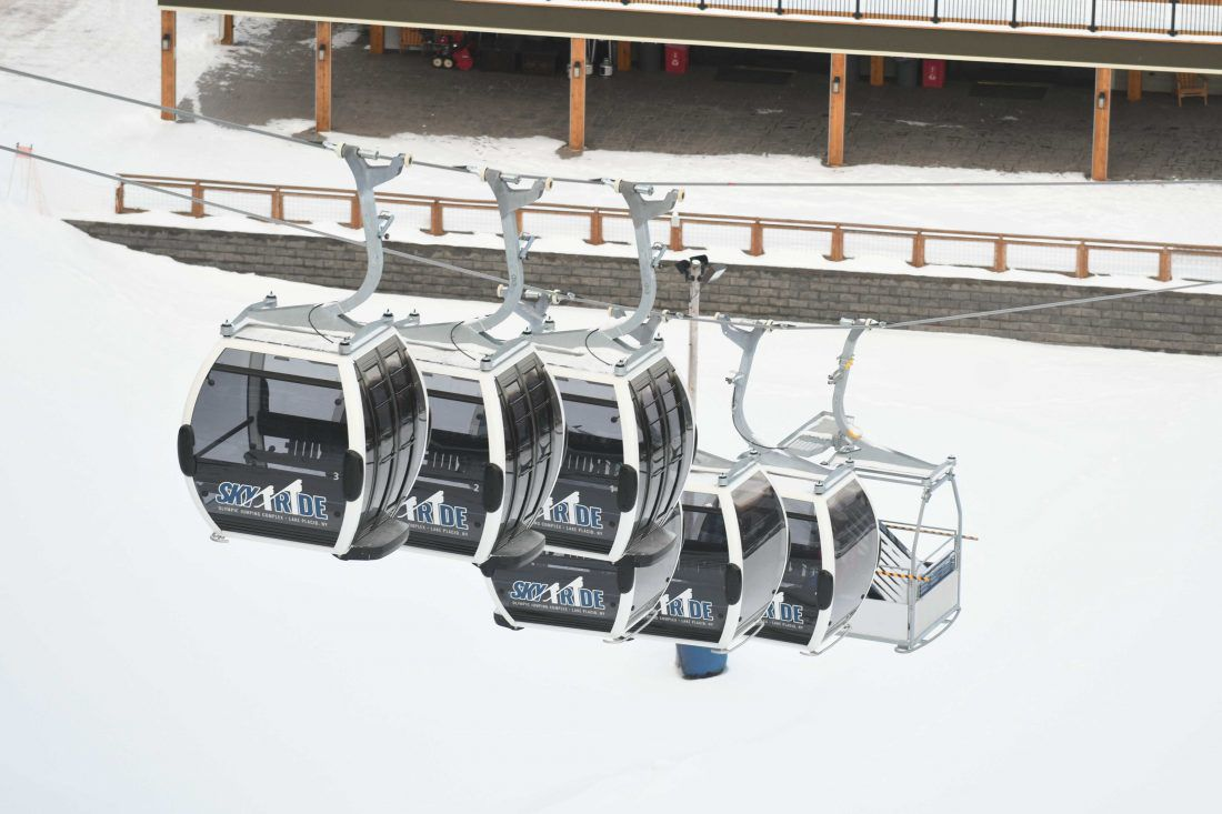 Olympic ski gondolas
