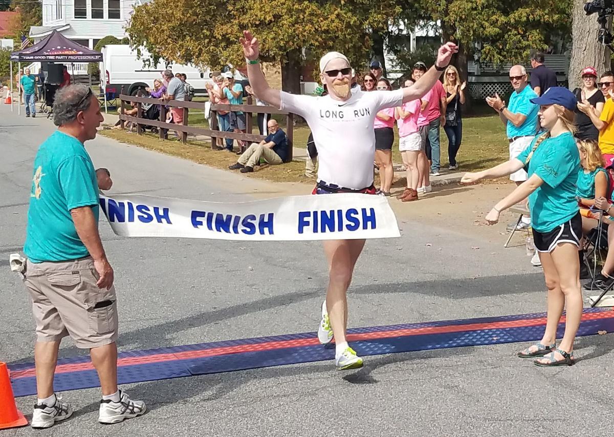 Galvin crosses the finish line
