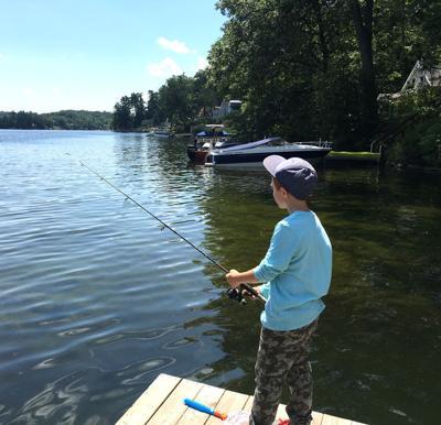Fishing on Glen Lake