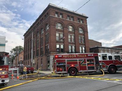 Fire damages former Masonic Temple building in Hudson Falls