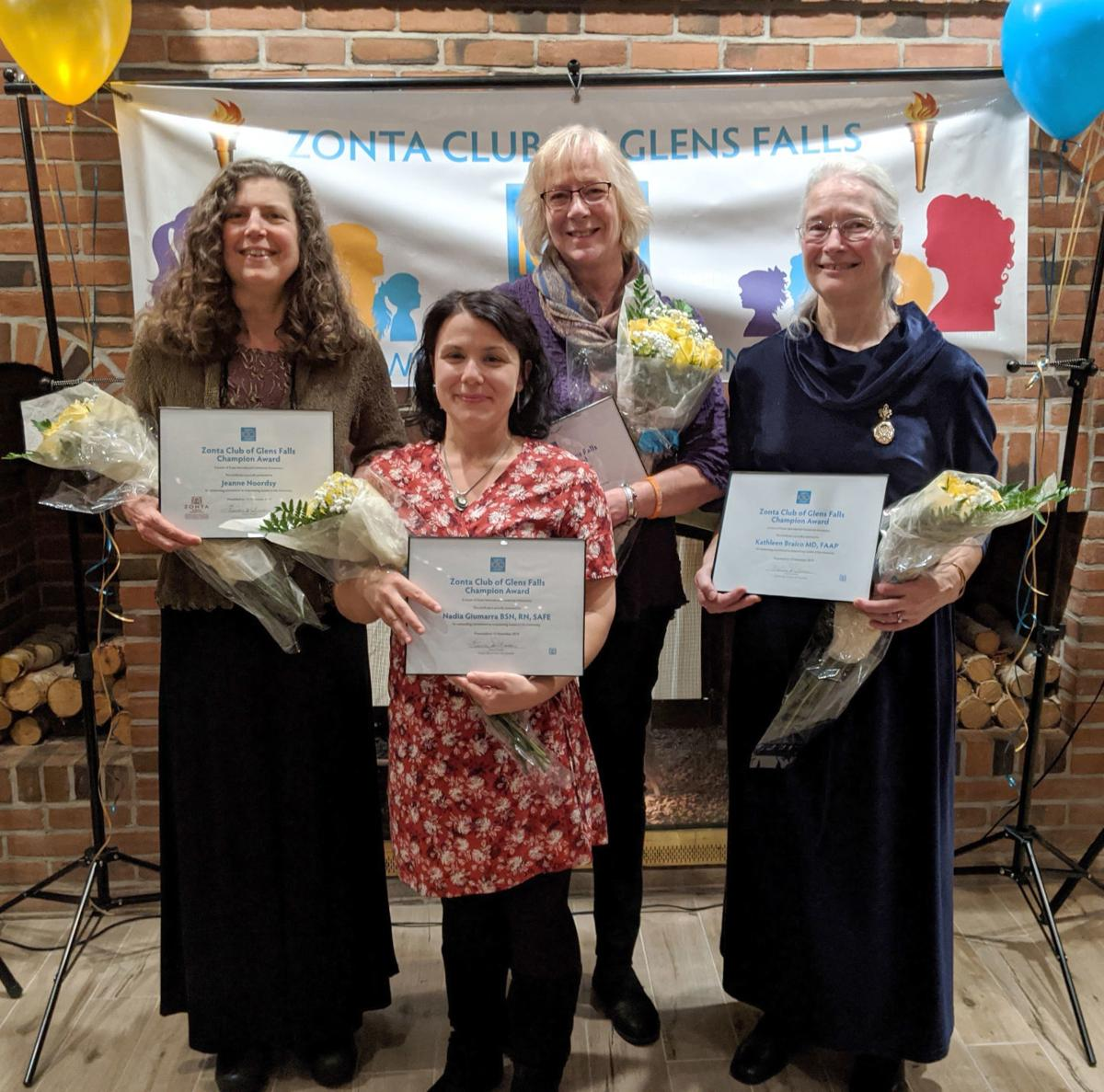 Zonta honors four with Champion Award