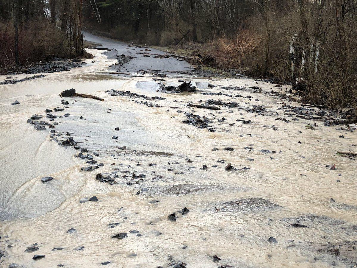 Glen Road flooding