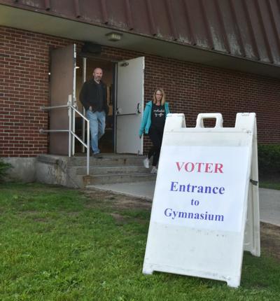 Queensbury school polling place entrance